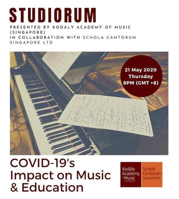 Studiorum Series Online Session 1: Covid-19's Impact on Music & Education – Post Event Report