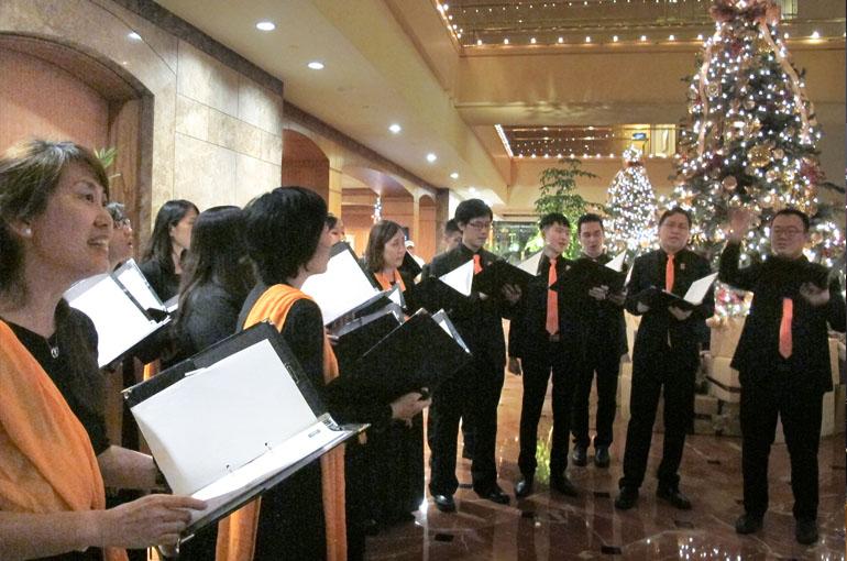 SCS Sings For The Accademia Italiana Della Cucina